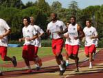 Foto dei primi allenamenti dell'Acmar in piena estate