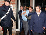 L'arresto di M.C., 55 anni, a Lugo (foto Corelli)