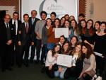 """La vincitrice, classe 4°FL del liceo classico """"Alighieri"""" di Ravenna (foto Corelli)"""