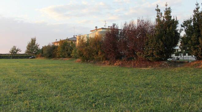 Un'immagine dell'area verde inutilizzata