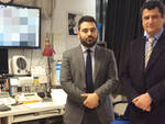 Il sindaco di lugo Davide Ranalli e il vice questore aggiunto e dirigente del Commissariato di Lugo Francesco Baratta