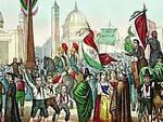 Rossetti, Proclamazione della Repubblica Romana nel 1849 in Piazza del Popolo (dipinto del 1861)