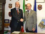 L'Ammiraglio di Squadra Paolo Pagnottella e Giovanni Naccarato, Comandante Provinciale del Corpo Forestale dello Stato