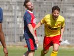 Per Manuzzi primo gol in questo campionato, il quinto col Ravenna (foto Corelli)