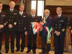 Nella foto i comandanti di capitaneria di porto in municipio con il vicesindaco