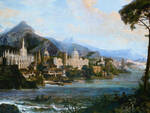 Tetar Van Elven - Veduta fantastica dell'Italia (particolare)