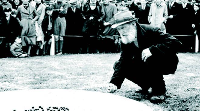 """Inghilterra 1937. Torneo di Big Ring (Immagine gentilmente concessa da """"House of marbles"""")"""