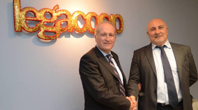 I nuovi vertici di Legacoop Romagna: il presidente Russo e il direttore Mazzotti
