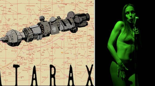"""A sinistra, la locandina di Atarax, il prossimo febbraio al Rasi; a destra, Agata Tomsic in """"Come le lucciole"""""""