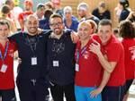Alcuni atleti master della Polisportiva Comunale Riccione (foto Fabio Cetti)