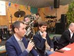 Da sinistra Marco Di Maio, Paolo Gambi, Stefano Bonaccini, in uno dei dibattiti politici