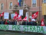 Il presidio dei lavoratori di Iter tenutosi a Ravenna