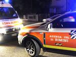 I mezzi del 118 hanno soccorso l'uomo ferito (foto archivio Migliorini)