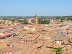 Una veduta dall'alto del centro storico di Cesena
