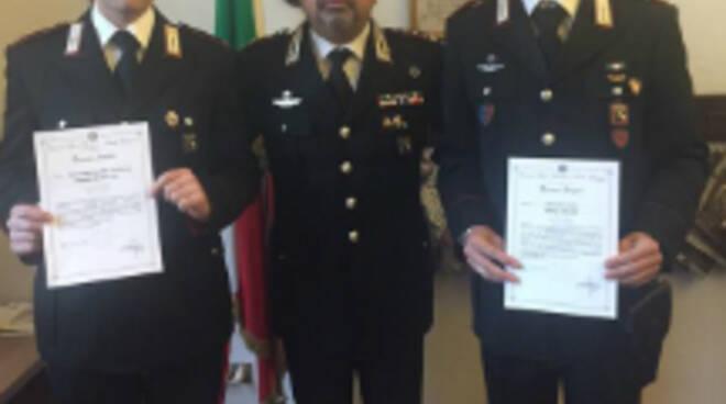 I due Carabinieri premiati