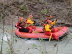 Il gommone dei sommozzatori dei Vigili del Fuoco, impegnati nelle ricerche