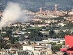 Il camino dell'inceneritore Mengozzi per rifiuti ospedalieri di Forlì