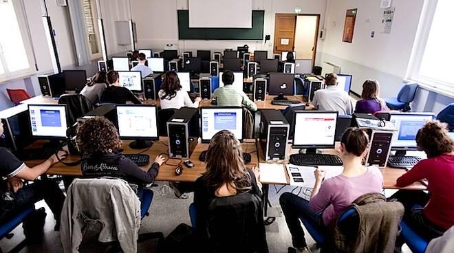 Un'aula del Campus di Rimini