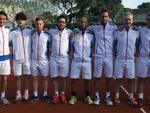 La squadra del Forum Tennis Forlì con il capitano Fabrizio Flamigni