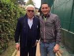 Nella foto Andrea Ciceroni con il celebre tennista Nicola Pietrangeli