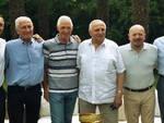 Da sx Daniele Bassi, Arnaldo Panbianco, Francesco Moser, Ercole Baldini, Davide Drei e Vittorio Adorni