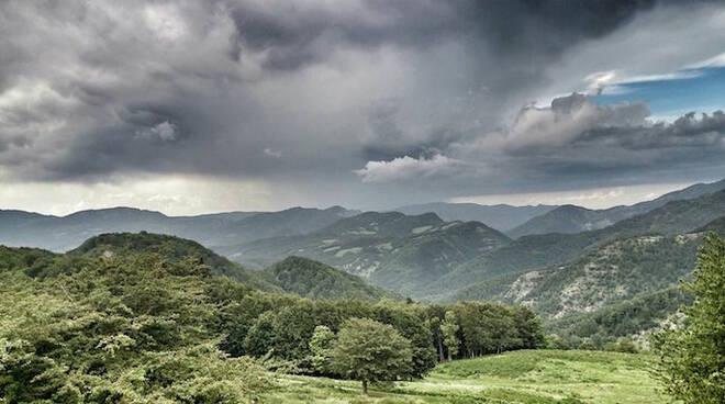 Dopo 9 ore di cammino a qualche chilometro dal Giogo la minaccia di un temporale