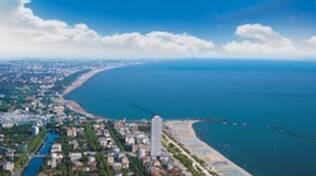 Panoramica della costa di Cesenatico