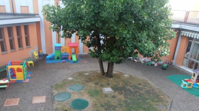 Cortile interno della scuola d'infanzia Maria Ausiliatrice di Lugo