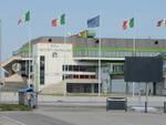 L'esterno del PalaGalassi a Forlì (foto Blaco)