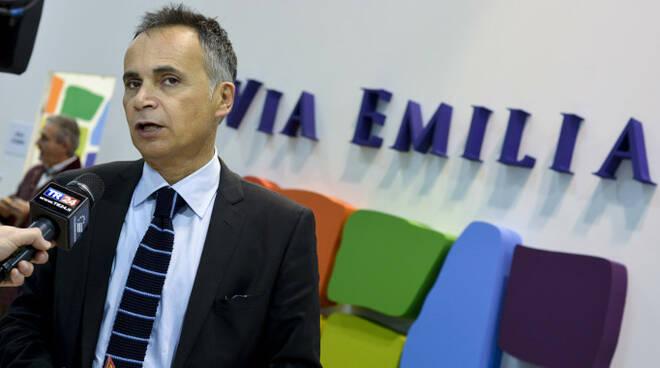 Andrea Corsini alla conferenza stampa di presentazione dei dati sul turismo in riviera