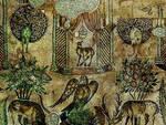 Particolare di Taybbat al Imam, Siria: Mosaici del presbiterio, Chiesa dei Santi Martiri