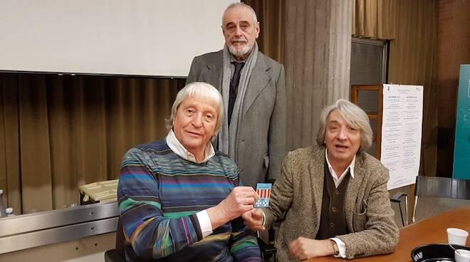 Da sinistra, Flavio Caroli, Giuliano Babini e Marcello Landi