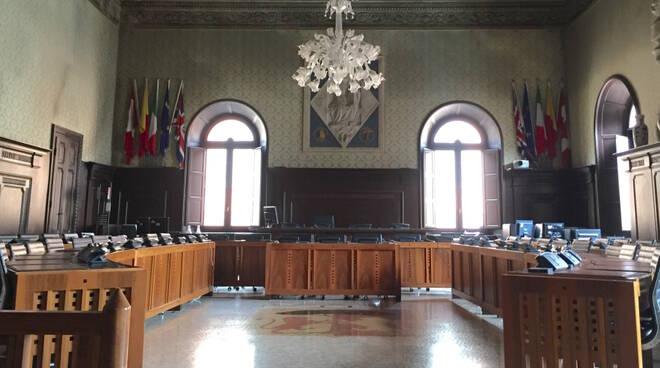 La sala del consiglio comunale di Ravenna