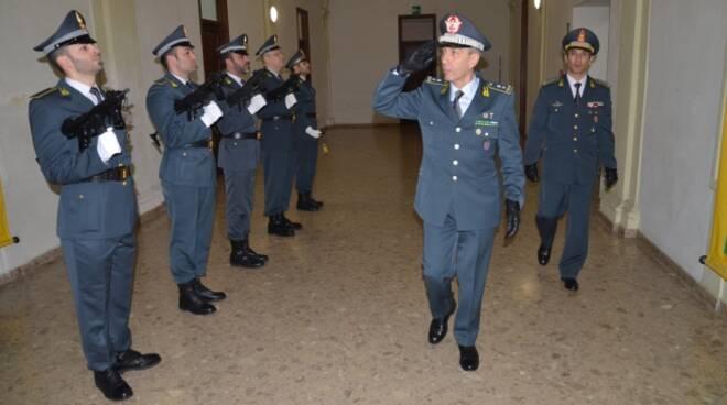 Il generale di Divisione Giuseppe Gerli in visita al comando provinciale di Forlì-Cesena della Guardia di Finanza