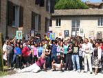 Studenti e insegnani all'Istituto d'Arte per il Mosaico Severini di Ravenna