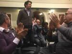 Alessandro Barattoni applaudito ieri sera dall'assemblea che lo ha eletto