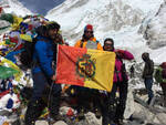 La famiglia Guerrieri all'Everest base camp