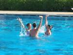Un momento di gara dei Campionati italiani Uisp di nuoto sincronizzato
