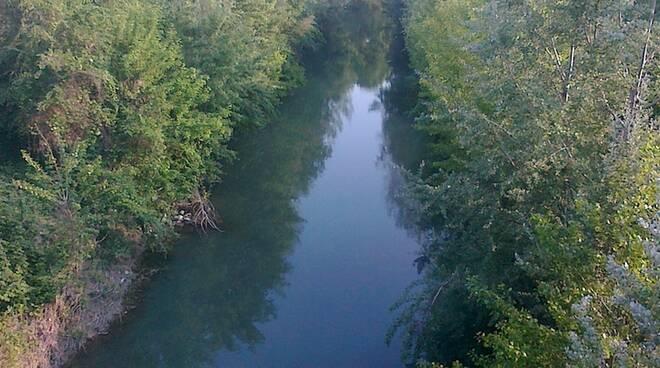 Un tratto del fiume Lamone in collina