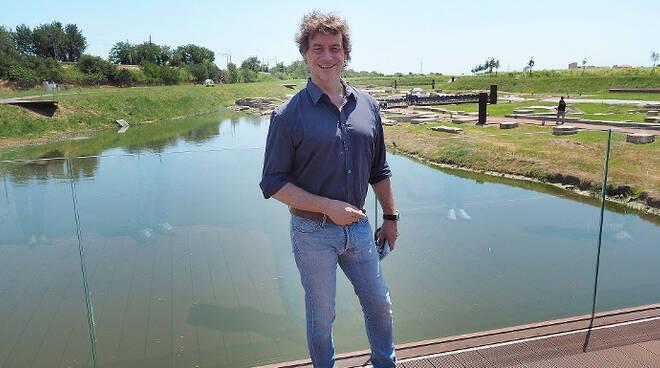 Alberto Angela nell'antico porto di Classe