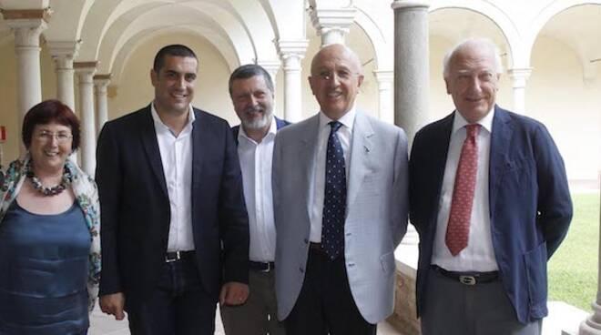 Signorino, de Pascale, De Martino, Patuelli e Alfieri presso i Chiostri Francescani
