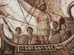 Una rappresentazione a mosaico del viaggio di Ulisse
