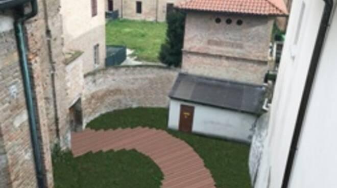 Il cortile di Casa Bufalini