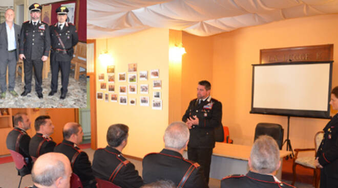 All'incontro hanno partecipato anche i comandanti di stazione della Valmarecchia
