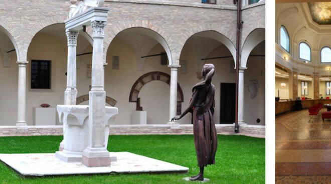 I Chiostri Francescani della Cassa e la sala Conti Correnti della BPER