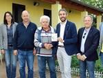 Seadinovski, Pirazzini e Celati (Celati Impianti), Luigi Trombini, il sindaco Piovaccari, il vice sindaco Baldini e l'Ing. Minghini