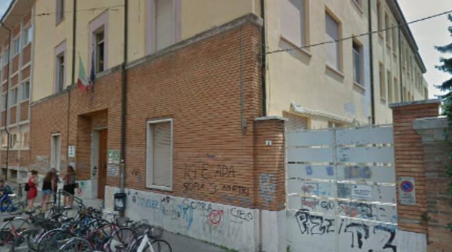 L'ingresso del Liceo Scientifico Oriani di Ravenna