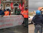 Lavoratori Logistica Ferrari in sciopero in Piazza del Popolo e allo stabilimento Marcegaglia di Ravenna