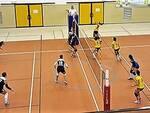 Una fase del match tra Rubicone In Volley San Mauro Pascoli contro Gut Bellaria