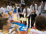 Coach Antimo Martino con i suoi ragazzi
